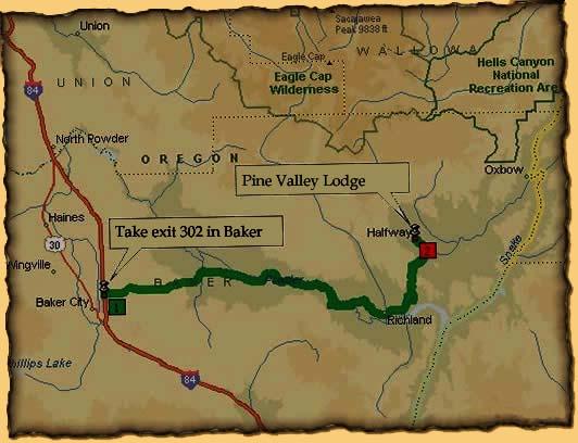 Halfway Oregon Map.Getting Here